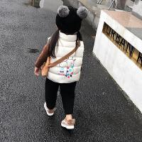 儿童秋冬马甲女童2018新款中小童宝宝面包服百搭加绒加厚背心外套 80码 身高约80cm