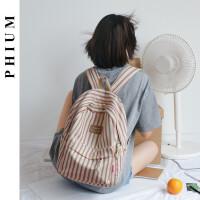 花曦 书包女帆布日系韩版背包双肩大学生2019新款双肩包高中时尚
