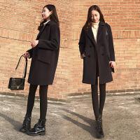 大衣女中长款韩国2017新款秋冬加厚显瘦茧型毛呢外套宽松学生呢子