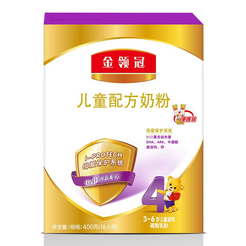 伊利金领冠4段 儿童配方奶粉 400g/盒金领冠坚持中国宝宝营养研究