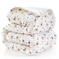婴儿浴巾纯棉秋冬季加厚新生儿12层纱布柔软初生儿童宝宝盖毯毛