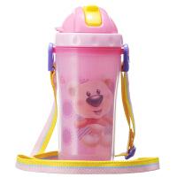 【当当自营】日康 双层隔热吸管杯 颜色随机(新老包装替换中)水壶/水杯/吸管杯