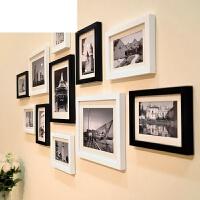 艾欧唯 实木照片墙装饰婚纱画相框挂墙组合现代简约客厅生活照创意相片墙