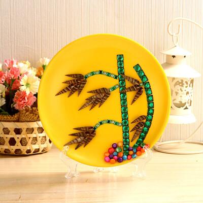 益智创意儿童diy天然贝壳海螺粘贴圆盘画摆件手工材料包图片