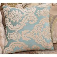 欧式雪尼尔提花沙发抱枕靠垫套含芯床头现代靠枕套办公室靠背枕套