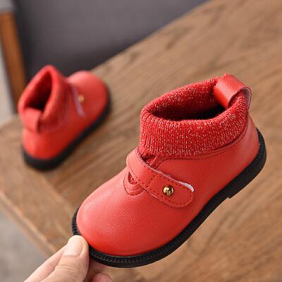 女童马丁靴秋冬2018新款韩版童鞋儿童针织加绒公主短靴女孩鞋子潮   走进大自然的怀抱,美丽从这里起步。