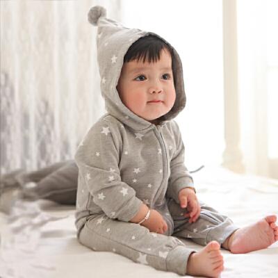 婴儿连体衣服宝宝新生儿哈衣女0岁3个月潮服6满月0春秋春装外出服 发货周期:一般在付款后2-90天左右发货,具体发货时间请以与客服协商的时间为准