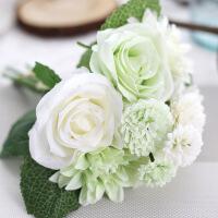 玫瑰束大丽花仿真花假花出口婚庆家居装饰品