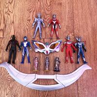 赛罗奥特曼眼镜玩具套装 变形变身器 捷德奥特胶囊模型 儿童卡片 +6人偶