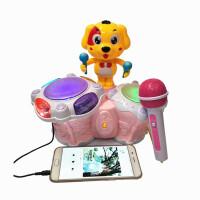 小狗音乐手拍鼓玩具可充电动拍拍鼓婴儿童启蒙跳舞鼓0-3-6岁 狗狗跳舞鼓(颜色随机)