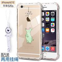 iphone6手机壳苹果6s软6/7/8plus硅胶套透明i6防摔8全包plus新潮男女6splus