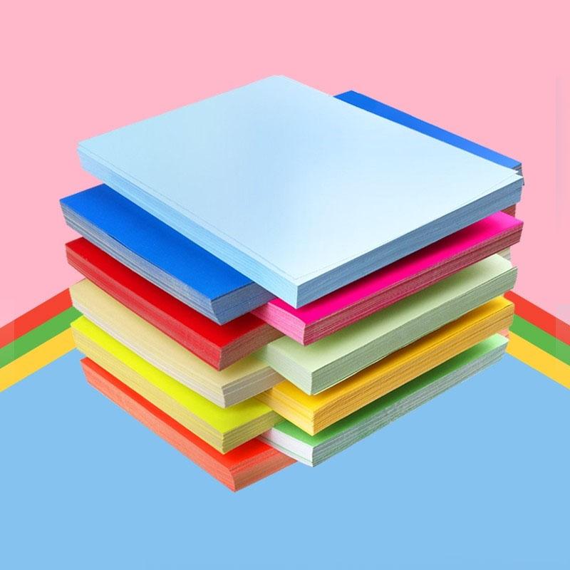 A4彩色不干胶打印纸标签背胶纸箱贴纸白色标签纸100张/包 复印贴纸 空白自粘标签纸210*297mm
