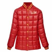 加大宽松羽绒棉内胆男女童保暖外套中大童羽绒服童装短款内穿 红色 1181款