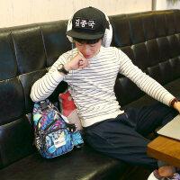 韩版潮流胸前斜挎包休闲帆布男包单肩包腰包运动小背包包