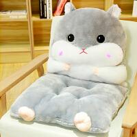 椅垫加厚学生座垫餐椅子凳子屁股垫子仓鼠连体坐垫靠垫一体办公室