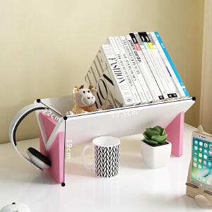 【79元任选2件 150元任选4件】幽咸家居 创意新型V型桌上书架厂家直销现代简约异形木塑板组装书架