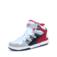 冬季加绒保暖韩版男鞋魔术贴板鞋高帮潮鞋男棉鞋运动男士马丁短靴