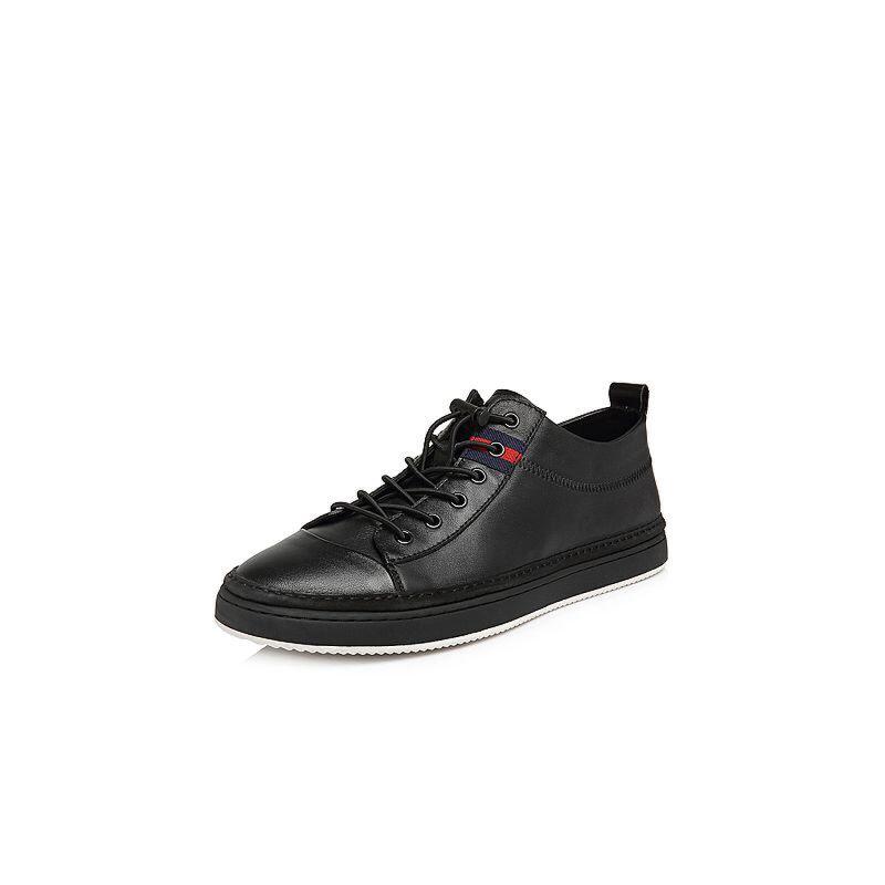 Belle/百丽2018春新品专柜同款牛皮革男休闲鞋5SF01AM8