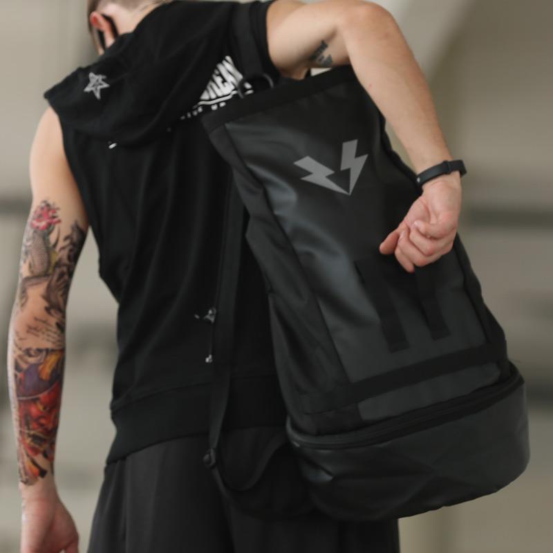 时尚户外潮流大容量双肩背包男女学生书包运动篮球健身包旅行包 品质保证 售后无忧 支持货到付款