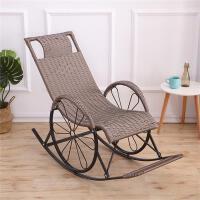 藤椅摇椅成人阳台休闲摇摇椅室内家用懒人躺椅。藤编织午睡逍遥椅
