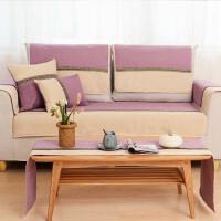 沙发垫布艺冬季现代欧式沙发巾罩四季飘窗垫简约现代组合坐垫子