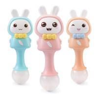 米宝兔宝宝手摇铃玩具0-1岁新生儿益智0-3个月3-6-12个月婴儿玩具
