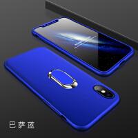 苹果x手机壳iX10iponex套A1865硬壳iphoneX360度全包iPhone10保护套5. 苹果X- 巴萨蓝