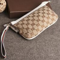 女士钱包大容量长款薄韩国帆布拉链零钱包女小手包手机包袋手拿包