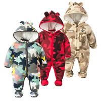 2018050645286女婴儿连体衣冬季加厚宝宝外出抱衣服秋冬装新生儿外套装棉衣0岁1