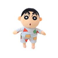 蜡笔小新公仔抱枕毛绒玩具野原新之助搞怪布娃娃小号女孩玩偶 正版50厘米 送随机小挂件