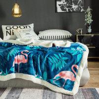 毛毯被子冬季羊羔绒加厚保暖珊瑚绒毯子垫床上法兰绒女床单人双层