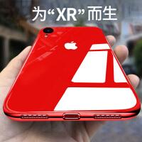 2018新款iPhone XR手机壳苹果XR玻璃iPhoneXR硅胶超薄全包防摔xr女款潮男ipon