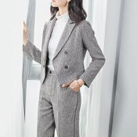 【领70元无门槛券 到手价178元】YHMW毛呢套装女2018冬装新款气质长袖西装长裤两件套