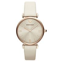 阿玛尼(Emporio Armani)手表 皮质表带经典时尚休闲石英女士腕表 AR1769