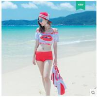 韩版温泉小胸聚式显瘦时尚游泳衣女拢钢托bikini泳装性感分体裙
