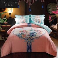 四件套纯棉床单被套床笠1.5米2.0双人1.8m床上用品冬季