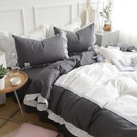 床上四件套纯棉1.5/1.8m床被套罩三件套床单床裙少女心公主风