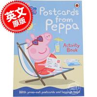 [现货]小猪佩奇 粉红猪小妹 英文原版 Peppa Pig: Postcards from Peppa 来自佩奇的明信片 翻翻书 3-6岁儿童
