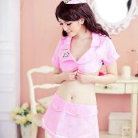 空姐制服诱惑 情趣诱惑 粉色空姐分体 演出服 DS 情趣内衣女
