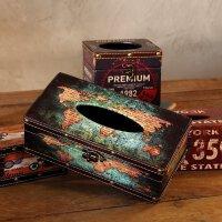 【支持礼品卡支付】复古美式纸巾盒摆设咖啡厅餐馆店铺抽纸盒餐巾纸盒家居装饰品摆件