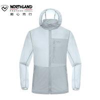 诺诗兰2018春夏户外新品男式皮肤衣UPF40+防晒运动风衣 GL075201