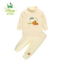 【99元3件】迪士尼Disney 男女宝宝衣服春季纯棉高领内衣套装153T627