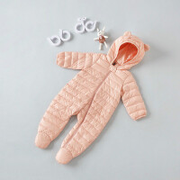 儿童羽绒服轻薄款宝宝连体衣冬新生婴儿衣服0-3个月秋冬外出抱衣
