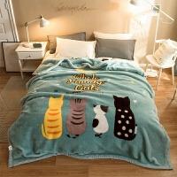 床单毛绒毯珊瑚毛绒毯子冬季用加厚法兰绒拉舍尔毛毯床单人保暖学生宿舍被子