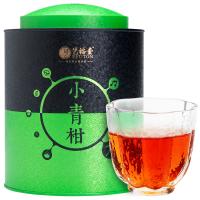 【�I1送1】�福堂茶�~ 云南普洱茶熟茶 新��柑小青柑�皮柑普茶 350g