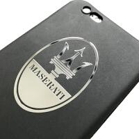 玛莎拉蒂标志手机金属贴 纯金属手机贴纸 充电宝装饰贴 【玛莎拉蒂】3.5X5.3cm
