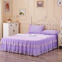 新品蕾丝床裙席梦思床套夏季薄款床罩公主花边凉席搭档防尘罩