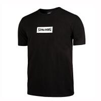 斯伯丁 SPALDING 20031 篮球运动服男子纯色运动休闲纯棉短袖圆领T恤