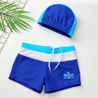 儿童泳裤 男童分体带帽泳装宝宝游泳裤速干 小童婴儿泳衣