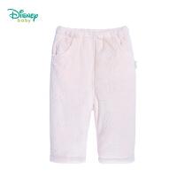 【12.10秒杀价:59.9】迪士尼Disney)婴儿天鹅绒夹棉裤子可开裆冬装男女宝长裤194K992
